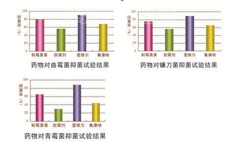 氟康唑对常见霉菌抑菌效果实验结果对照图