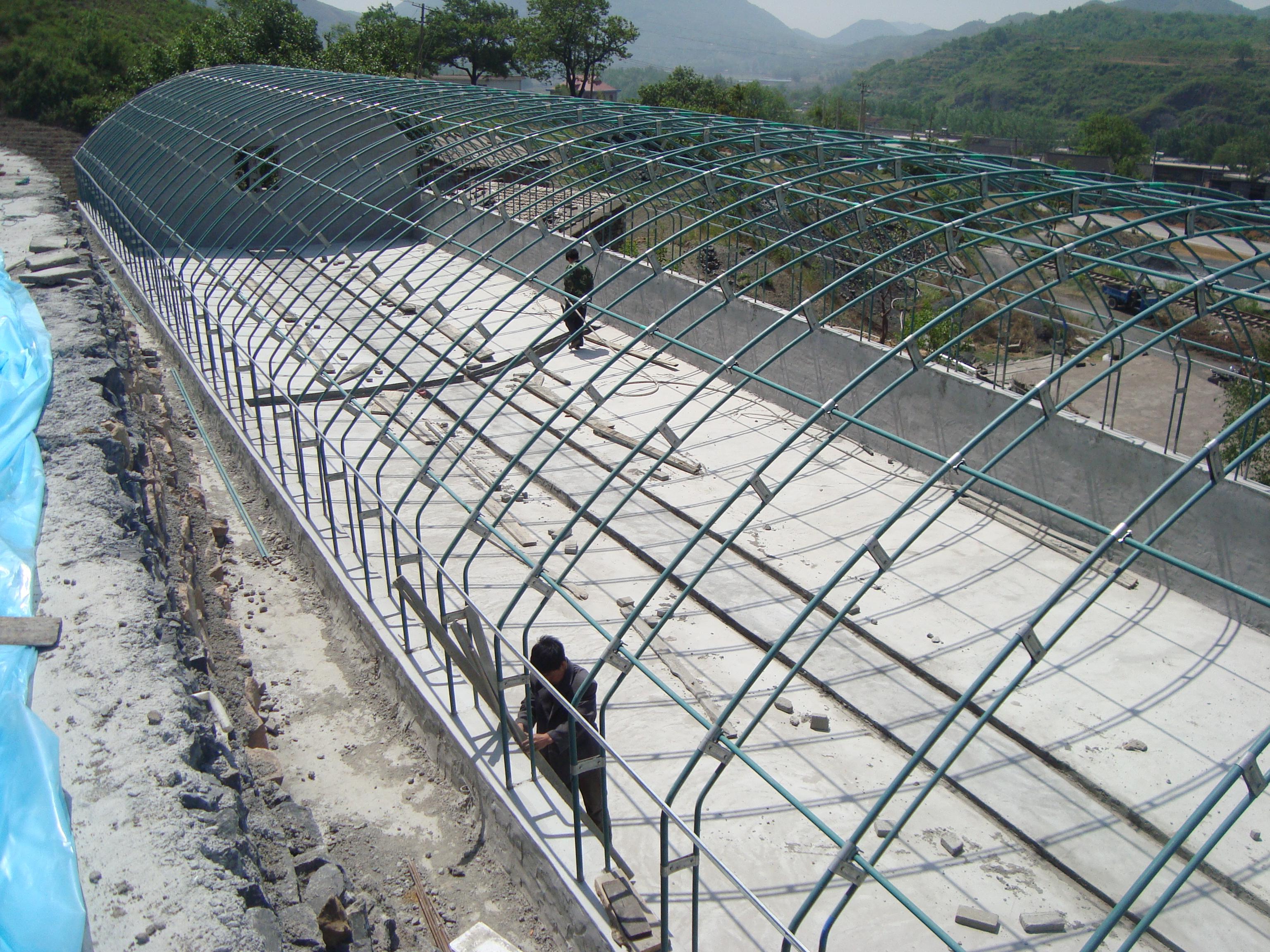 钢架养殖大棚的特点及安装